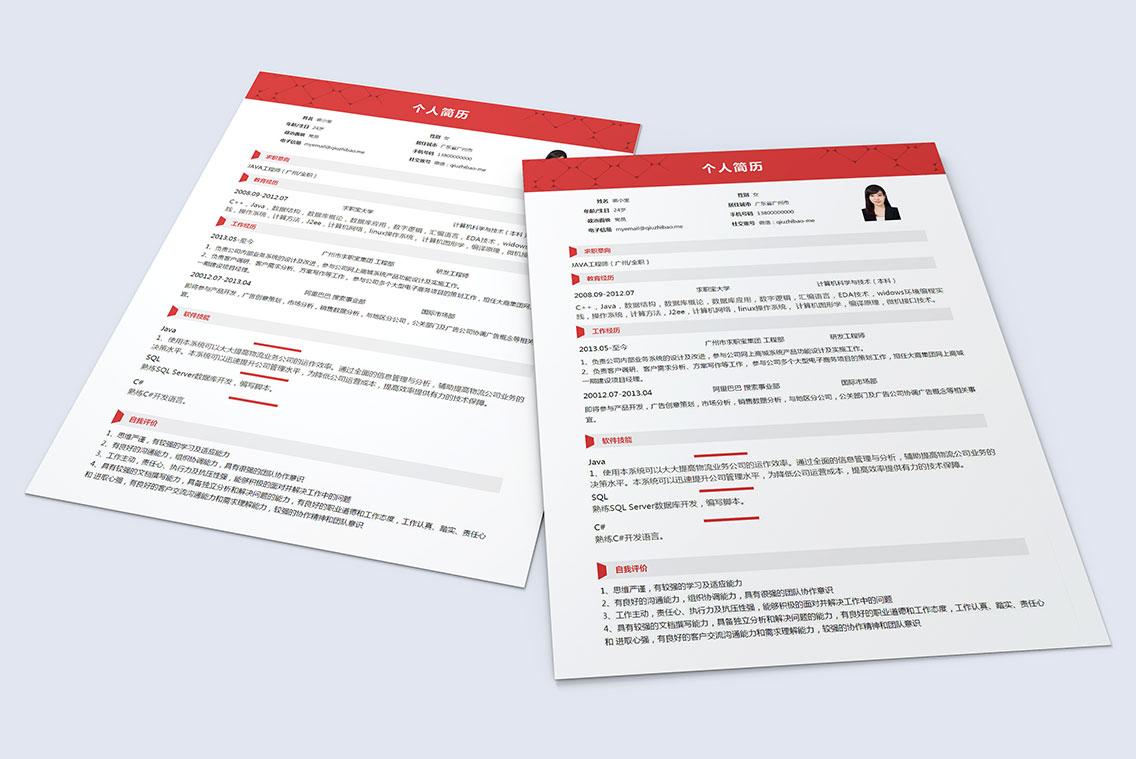 求职宝简历模板丨QCH033-求职宝简历