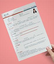 QNH055&nbsp常规通用简历模板