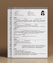 QNH093&nbsp常规通用简历模板