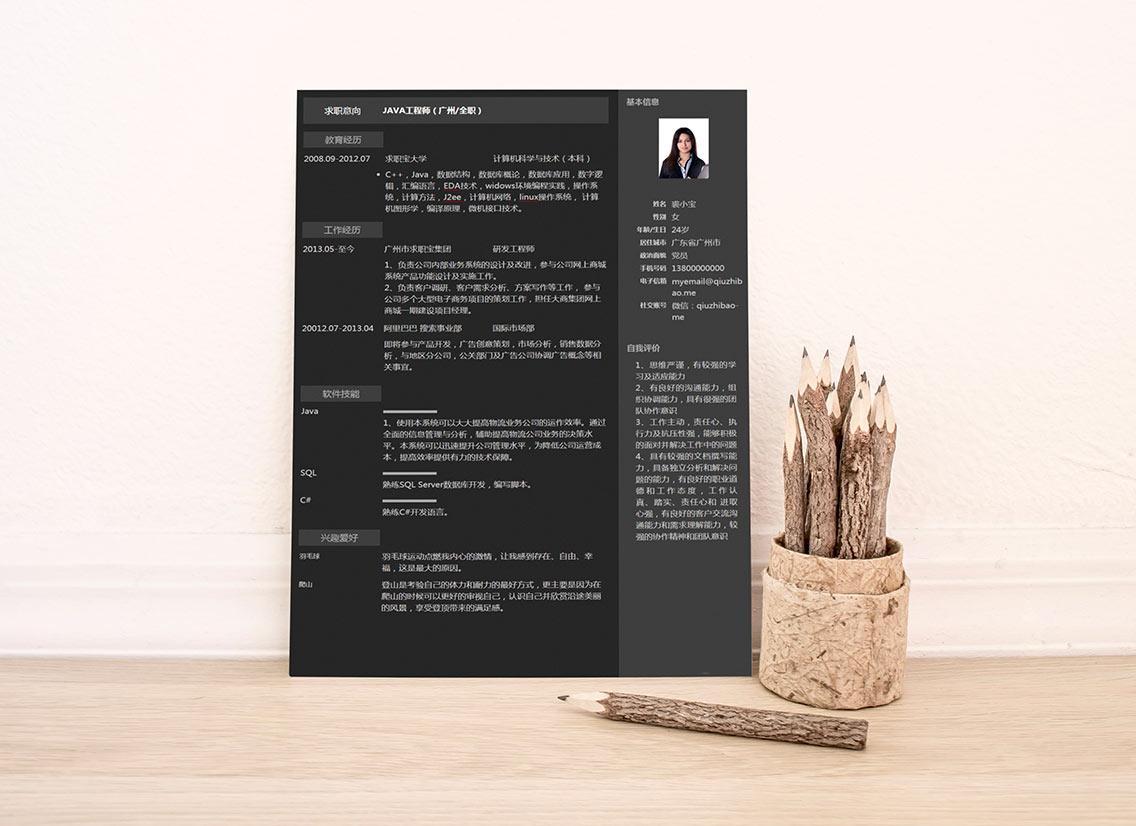 求职宝简历模板丨QCH021-求职宝简历