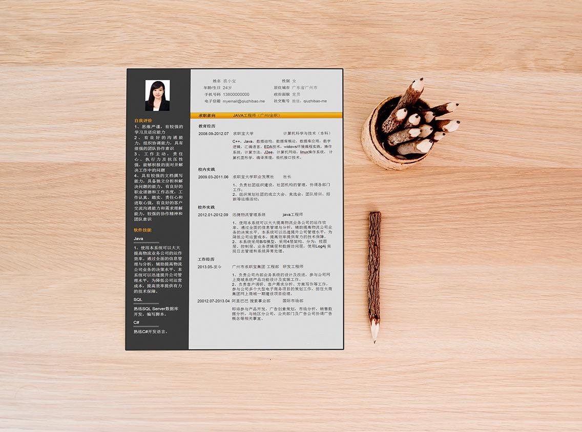 求职宝简历模板丨QCH024-求职宝简历