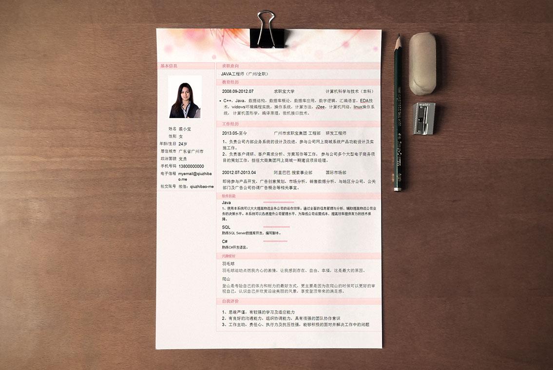 求职宝简历模板丨QCH029-求职宝简历