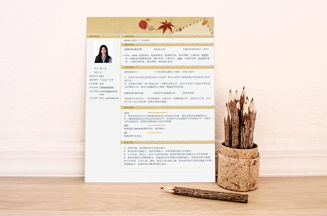 求职宝简历模板丨QCH031-求职宝简历