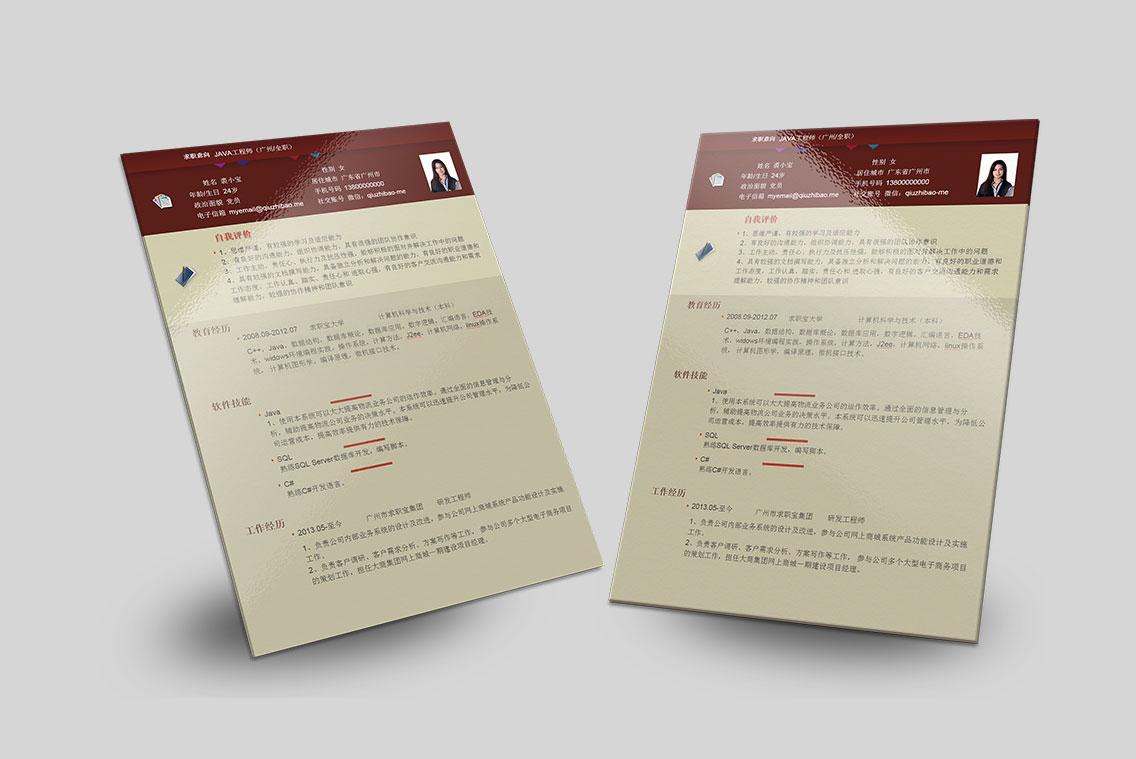 求职宝简历模板丨QCH005-求职宝简历